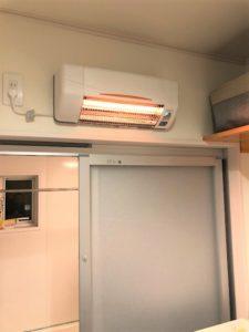 「洗面所暖房機」設置工事